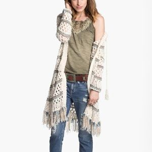 Free People Sunblock mesh knit cardigan duster Med